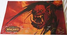 BlizzCon 2014 Official World of Warcraft Warlords of Draenor Signed Poster