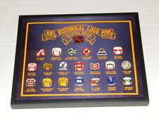 NHL Historical Logo Pins Collector Edition Framed Set - 21 Retired Hockey Teams!