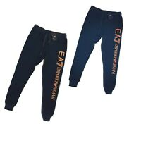 EMPORIO ARMANI MEN'S COTTON JOGGERS WITH  MAXI LOGO ---- XMAS OFFER