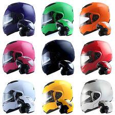 DOT 1Storm Motorcycle Modular Full Face Helmet Flip up Sun Visor Dual Lens