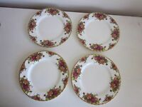 Royal Albert Old Country Roses Salad Plates set of 4 1962