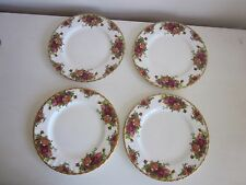Royal Albert Old Country Roses Salad Plates set of 4 1962
