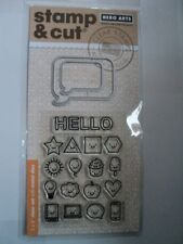 HERO ARTS STAMP & CUTS EVERYTHING SMILES CLEAR STAMPS WITH MATCHING DIE-CUTS