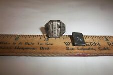 1938 ORPHAN ANNIE TRIPLE MYSTERY Secret Compartment Ring Radio Premium