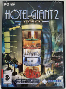 Hotel Giant 2 PC Game CD-ROM Computer Simulation Games Videogames Used UK