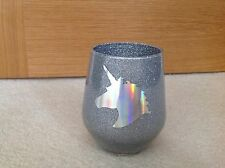 SILVER Glitter Make Up Or Make Up Brush Holder - HOLOGRAPHIC UNICORN
