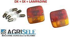 Coppia fanale faro posteriore trattore carrello rimorchio + lampadine