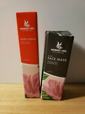 Wonder Vida Acne Cream and Face Mask Pore Cleaner both 1oz Free Shipping