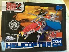 Metal Tech Metal Construction Building Toy Helicopter 204 Pieces New