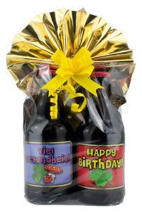 Geschenk-Set Bier Geburtstag 2 fertig verpackt mit Folie und Schleife