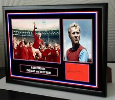"""Bobby Moore Canvas Tribute Print Signed """"Great Gift & Souvenir"""""""