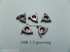 Circlip & o-ring  grooving IR16 inserts internal select size and quantity