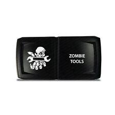 CH4x4 Rocker Switch V2  Zombie Tools Symbol 5 - Horizontal - White LED