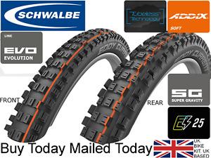 Schwalbe Eddie Current 29 27.5 x 2.6 2.8 Supergravity Soft Addix E MTB ike Tyre