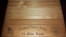 Military Challenge Coin Holder/Display 9x12, US Army Ft. Bliss, TX