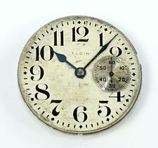 Elgin 16 Size Hunt Case Pocket Watch Movement - Parts or Repair - Dh365