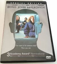 BEING JOHN MALKOVICH SPECIAL EDITION FILM DVD VERSIONE UK LINGUA INGLESE OTTIMO