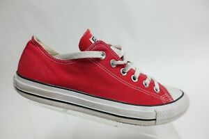 CONVERSE All-Star Canvas Red Sz 8 Men Low-Top Skate Sneakers