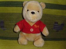 "Winnie the Pooh plush toy stuffed animal red corduroy shirt Disney Store 10"""