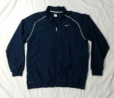 NIKE Golf Dri-Fit Mens Navy Blue Full Zip Light-Weight Athletic Golf Jacket XL