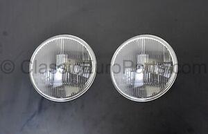 Euro Porsche 911 style H4 headlight lens set for VW Bug Beetle 1950-1967 LHD