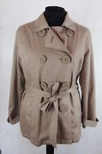 Boden Beige Tan Trench Coat With Belt UK 18-20 Double Breasted Mac Collar Jacket