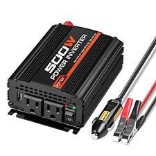 POTEK 500W Power Inverter / Car Converter DC 12V to 110V Dual AC Charging Por...