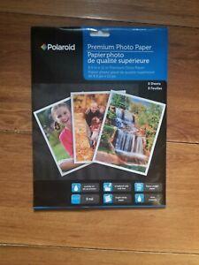 """Polaroid Premium Photo Paper,8.5""""x11"""" Premium Gloss Paper **8 Sheets**"""