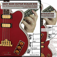 EASY BASS GUITAR SCALES DVD Over 50 Common and Exotic !