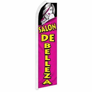 """""""SALON DE BELLEZA"""" advertising super flag swooper banner business hair beauty"""