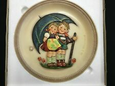 "Hummel 1st Edition 1975 ""Stormy Weather"" Anniversary Plate by Goebel w/ Box X2"