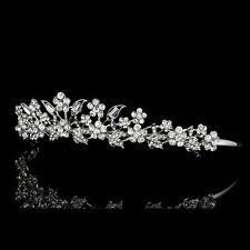 Bridal Floral Headpiece Rhinestone Crystal Prom Wedding Tiara V975