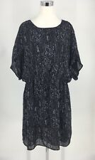 MICHAEL Michael Kors Women's Black Elastic Waist Short Sleeve Dress Size 2X