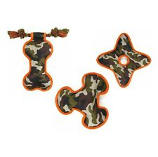 Dog Toy - Camo Dog Toys. NO SQUEAKER. FLOATING. Camourflage. Stuffed. 3 designs
