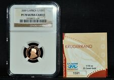 2009 SOUTH AFRICA 1/10 GOLD KRUGERRAND ✪ NGC PF-70-UCAM ✪ KR PROOF PR ◢TRUSTED◣