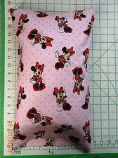 Minnie Mouse on pink dots Small Pillow Case & Travel / Toddler Pillow