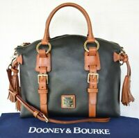 Dooney & Bourke BRISTOL pebbled leather Florentine doctors satchel tassel $398