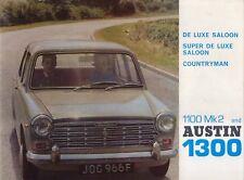 Austin 1100 Mk 2 & 1300 1967-70 Original UK Sales Brochure Pub. No. 2440/F