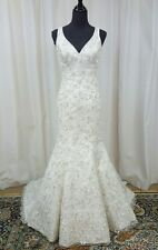 NEW Angelina Faccenda Couture Mori Lee Bridal Gown Wedding Dress 1304 Ivory Sz12