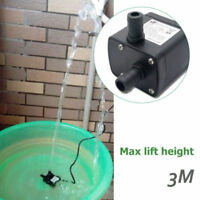 Small DC 12V 5W 350L/H 3M Submersible Water Pump Fish Pond Brushless Motor