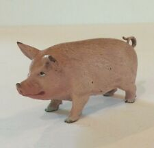 Adorable Austrian Bronze Miniature Cold Painted Pink Pig Figure
