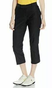 Nike Golf Womens Dri Fit Tournament Crop Pants Black 725712-010 Size 4 NWT $85