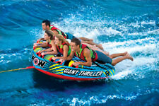 WOW Giant Thriller 1-4 Rider Inflatable Water Deck Tube Boat Towable 18-1030
