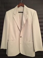 PERRY ELLIS SAND COLORED MICROFIBER SPORTCOAT /Size 40 MEDIUM/ Great Condition!
