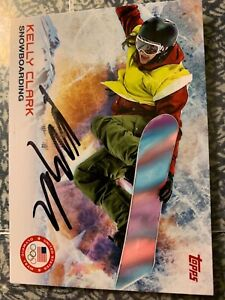 KELLY CLARK AUTOGRAPHED SNOWBOARDING CARD
