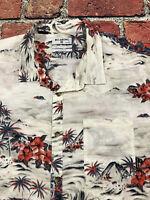 Billabong Tailored Fit Floral Hawaiian Island Thin  Short Sleeve Shirt Mens XXL