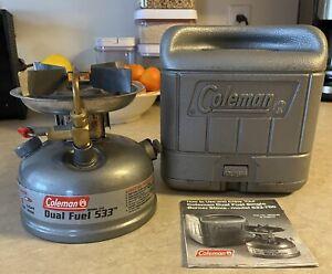 Coleman Duel Fuel 533 Single Burner Backpack/Camp Stove Burner Model 533