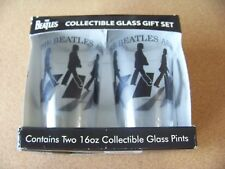 The Beatles Collectible 2 glass pint 16 oz gift set Abbey Road