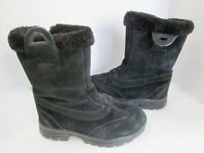 Sorel THINSULATE Insulated Black Suede Leather Calf Zip Winter Snow Boots 8 MINT