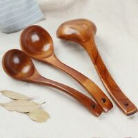 Long Handled Wooden Soup Spoon Bamboo Kitchen Apoon Utensil Gadget Rice Spoon
